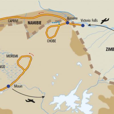 Itinéraire du voyage Trésors du Botswana - Botswana - Tirawa