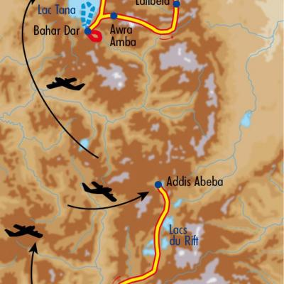 Itinéraire du voyage Grand Tour d'Ethiopie - Éthiopie - Tirawa
