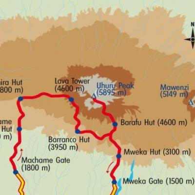 Itinéraire du voyage Mont Kenya & Kilimanjaro - Kenya - Tirawa