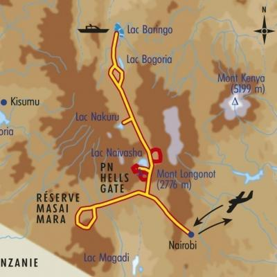 Itinéraire du voyage Balade et Safari dans la Rift Valley - Kenya - Tirawa