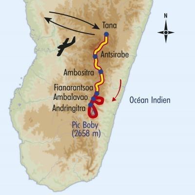 Itinéraire du voyage Trek des Hautes Terres - Madagascar - Tirawa