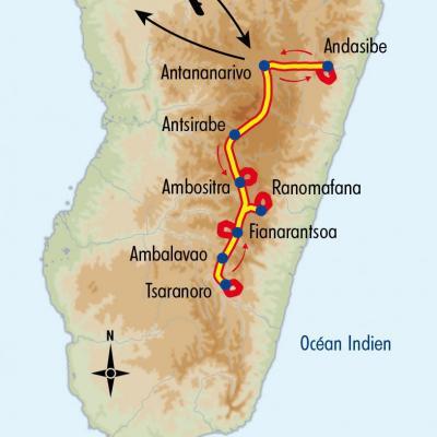 Itinéraire du voyage Balade à Madagascar - Madagascar - Tirawa