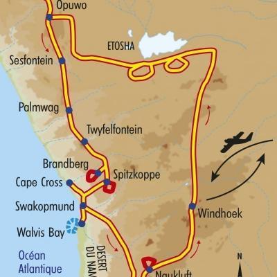 Itinéraire du voyage Grand Tour de la Namibie - Namibie - Tirawa