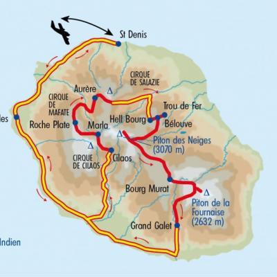 Itinéraire du voyage La Grande Traversée de la Réunion - Réunion - Tirawa