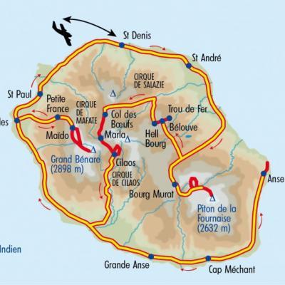 Itinéraire du voyage La Réunion, Ile Authentique Créole - Réunion - Tirawa