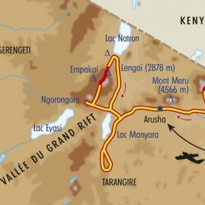 Itinéraire du voyage Safari, Masaï & Kilimanjaro - Tanzanie - Tirawa