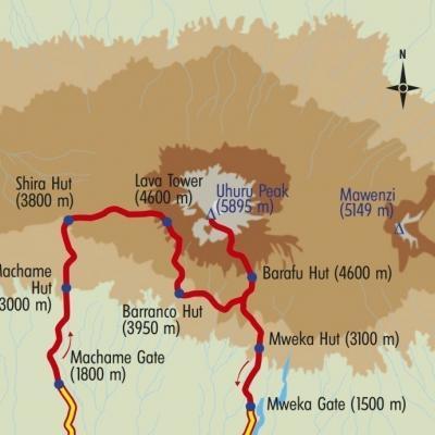 Itinéraire du voyage Kilimanjaro Voie Machame - Tanzanie - Tirawa