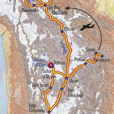 Itinéraire du voyage Grand Tour de Bolivie - Bolivie - Tirawa