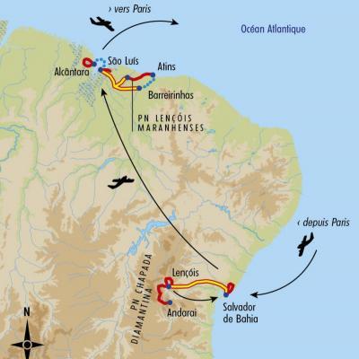 Itinéraire du voyage Trésors du Nordeste - Brésil - Tirawa