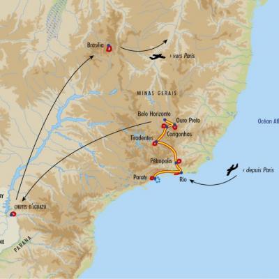 Itinéraire du voyage De Rio aux Chutes d'Iguaçu - Brésil - Tirawa