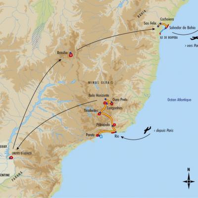Itinéraire du voyage Grand Tour du Brésil - Brésil - Tirawa