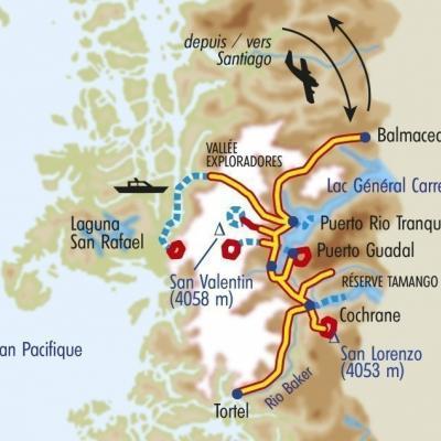Itinéraire du voyage Patagonie Secrète - Chili - Tirawa