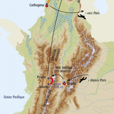 Itinéraire du voyage Trek des Andes à la Sierra Nevada - Colombie - Tirawa