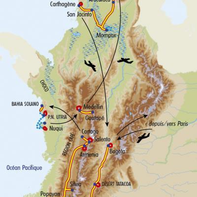 Itinéraire du voyage Grand Tour de Colombie - Colombie - Tirawa