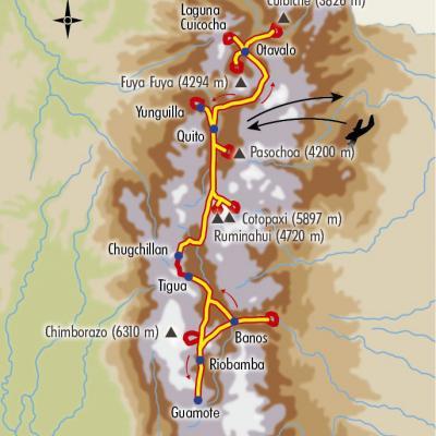 Itinéraire du voyage Trek des Volcans - Équateur - Tirawa