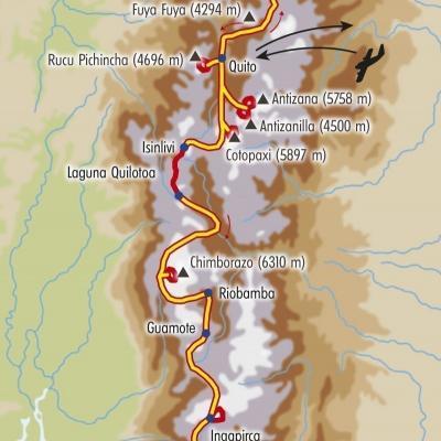 Itinéraire du voyage Montagnes d'Equateur - Équateur - Tirawa