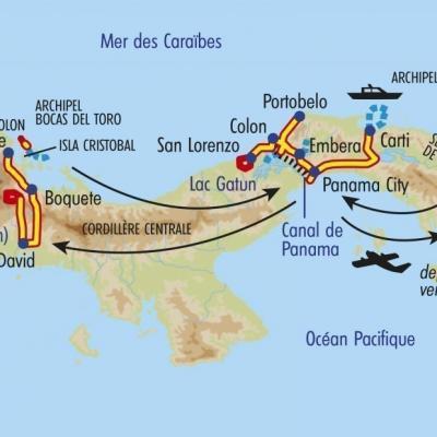 Itinéraire du voyage Balade Au Panama - Panama - Tirawa