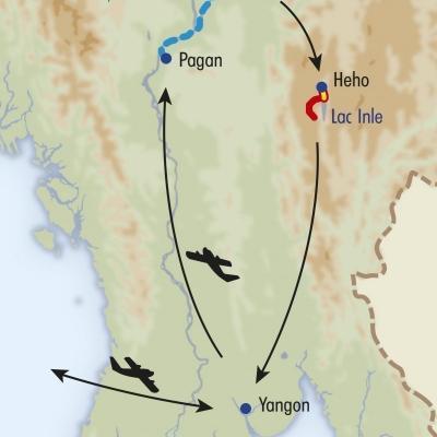 Itinéraire du voyage Rando chez les Paos - Birmanie - Tirawa