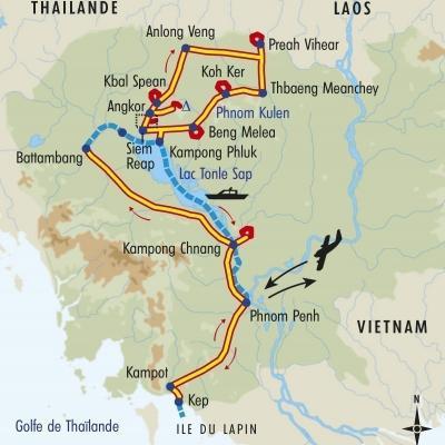 Itinéraire du voyage Balade au pays du Sourire - Cambodge - Tirawa