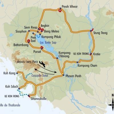 Itinéraire du voyage Grand Tour du Cambodge - Cambodge - Tirawa