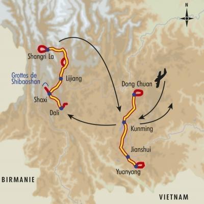 Itinéraire du voyage Splendeurs du Yunnan - Chine - Tirawa