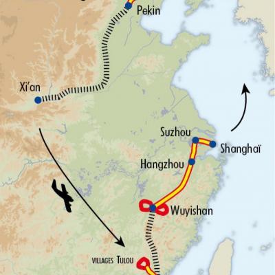 Itinéraire du voyage Sentiers de Chine - Chine - Tirawa