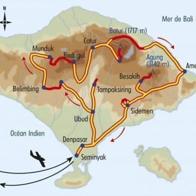 Itinéraire du voyage Bali, la Grande Traversée - Indonésie - Tirawa