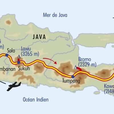 Itinéraire du voyage Balade de Java à Bali - Indonésie - Tirawa