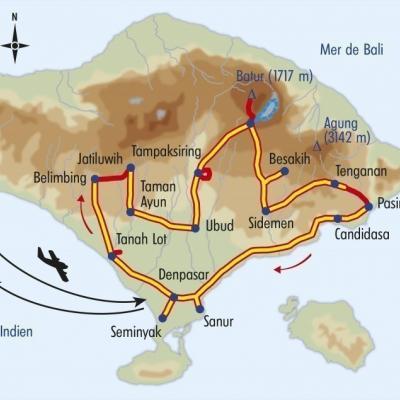 Itinéraire du voyage Bali, Balade sur l'Ile des Dieux - Indonésie - Tirawa