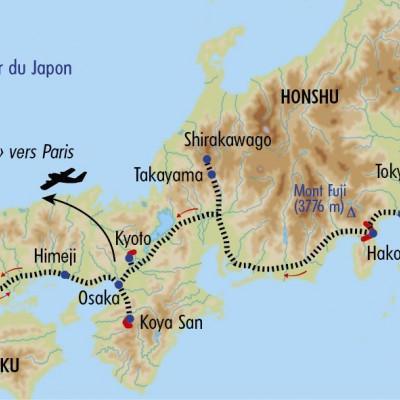Itinéraire du voyage Trésors du Japon - Japon - Tirawa