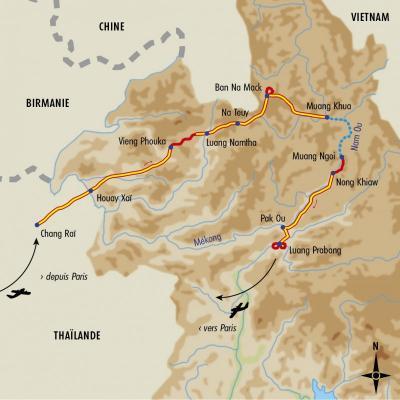 Itinéraire du voyage Treks au Laos - Laos - Tirawa