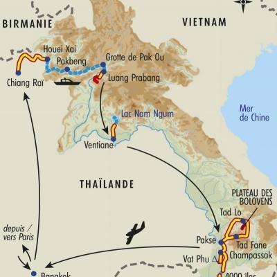 Itinéraire du voyage Balade au Fil du Mékong - Laos - Tirawa