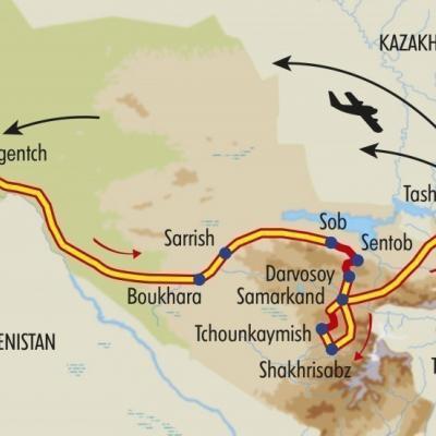 Itinéraire du voyage Rencontres Ouzbeks - Ouzbékistan - Tirawa