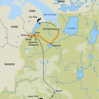 Itinéraire du voyage Nouvel An et Noël Orthodoxe - Russie - Tirawa