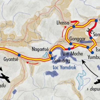 Itinéraire du voyage Trek et monastères du Tibet - Tibet - Tirawa