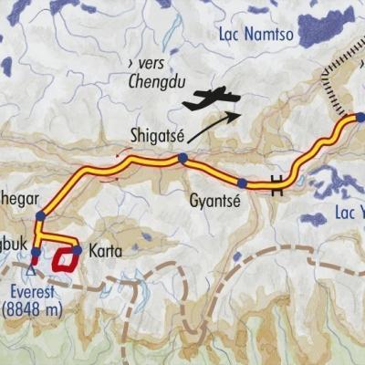 Itinéraire du voyage Vers la Face Cachée de l'Everest - Tibet - Tirawa