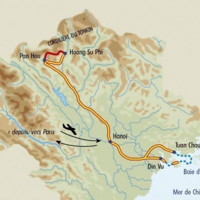 Itinéraire du voyage Trek des Minorités - Vietnam - Tirawa