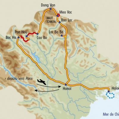 Itinéraire du voyage Grands Treks au Vietnam - Vietnam - Tirawa