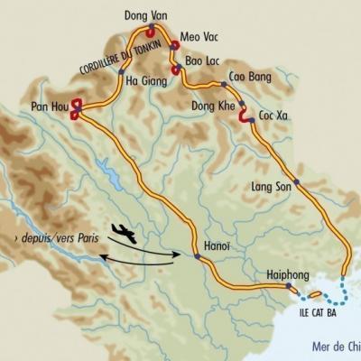 Itinéraire du voyage Balade dans le Haut Tonkin - Vietnam - Tirawa