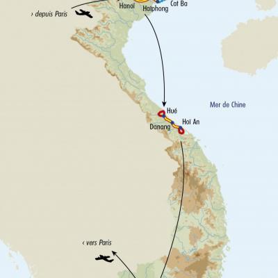 Itinéraire du voyage Grande Traversée du Vietnam - Vietnam - Tirawa