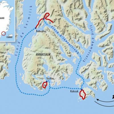 Itinéraire du voyage Groenland Est, Terre des Inuits - Groenland - Tirawa