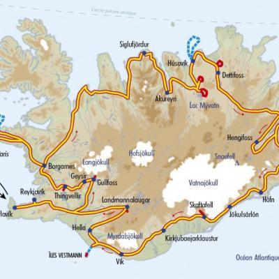Itinéraire du voyage Grand Tour de l'Islande - Islande - Tirawa