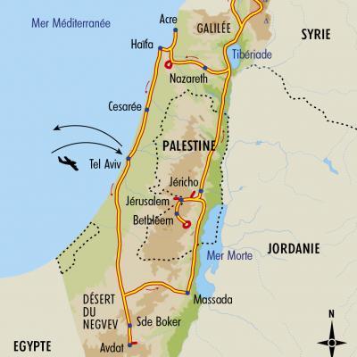 Itinéraire du voyage Terre Sainte, du Néguev au Lac de Tibériade - Israël - Tirawa