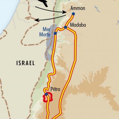 Itinéraire du voyage Du Wadi Rum à Pétra - Jordanie - Tirawa