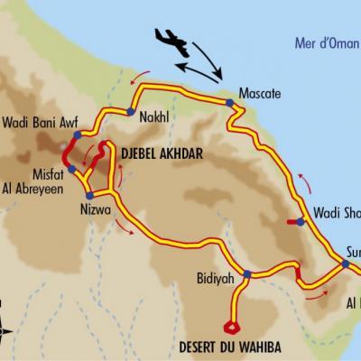 Itinéraire du voyage Trek à Oman, entre Montagnes et Wadis - Oman - Tirawa