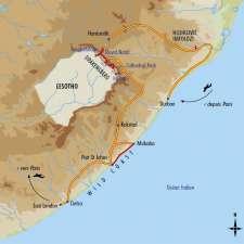 Itinéraire du voyage Trek entre Drakensberg et Côte Sauvage - Afrique Du Sud - Tirawa