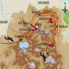 Itinéraire du voyage Montagnes d'Ethiopie - Éthiopie - Tirawa