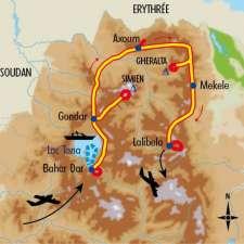 Itinéraire du voyage Balade en Abyssinie - Éthiopie - Tirawa
