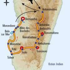 Itinéraire du voyage Grand Tour de l'Ile Rouge - Madagascar - Tirawa
