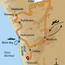 Itinéraire du voyage Charmes de Namibie - Namibie - Tirawa